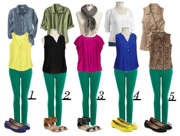 З чим носити салатові штани? Привабливий образ